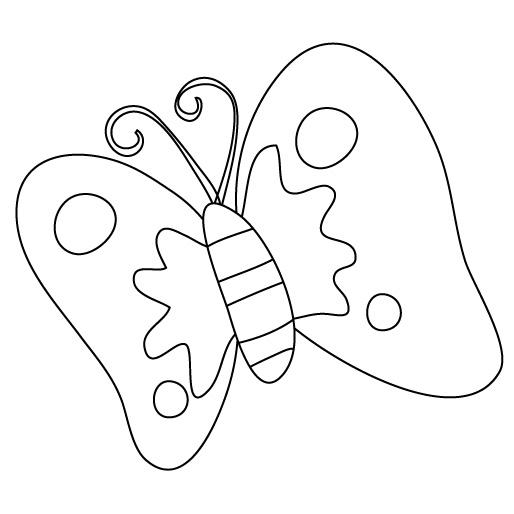 motyl kolorowanka
